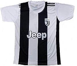 Roots4creation Juventus Football Jersey 2018 with Ronaldo Printed at Back
