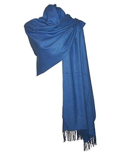 Etole écharpe Laine et Cachemire Bleu Lavande