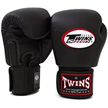 Twins Special Boxing Gloves BGVL3 Black 12 oz Universal All Purposes Training Sparring Gloves for Muay Thai Kick Boxing MMA K1 (Black, 12 oz)