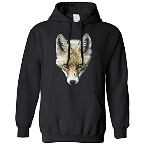 Fox Head Photograph High Quality Image Sly Sneaky Wildlife Logo Animal Wild Cute Powerful Inspirational Printed Design College Club Friend Family Unisex Hoodie Cool Birthday Gift Present