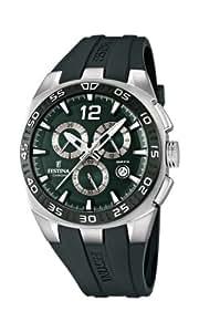 Festina - F16668/4 - Montre Homme - Quartz Chronographe - Aiguilles lumineuses/Chronomètre - Bracelet Caoutchouc Vert