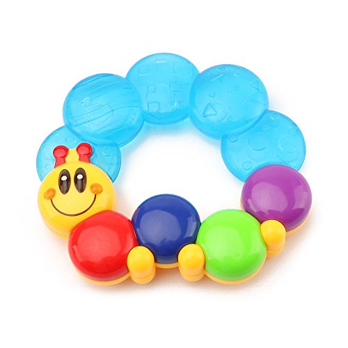 6 Months Old Baby Teether Rings Activity Sensory Rattle Toy Soft Water Filled For Boy Girl Children Baby 4173oQG3uuL