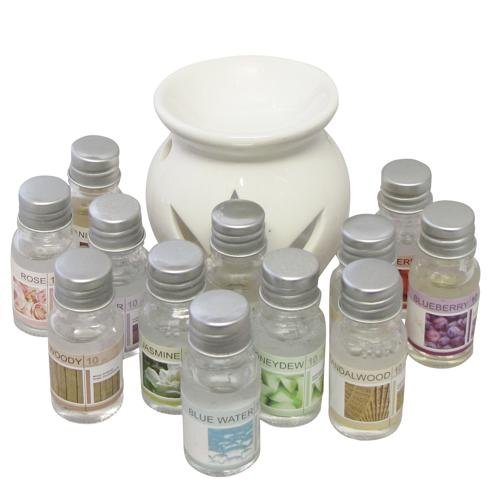 oil-burner-gift-set-with-12-fragrance-oils-aroma-therapy-oil-diffuser-home-gift-by-ce-home
