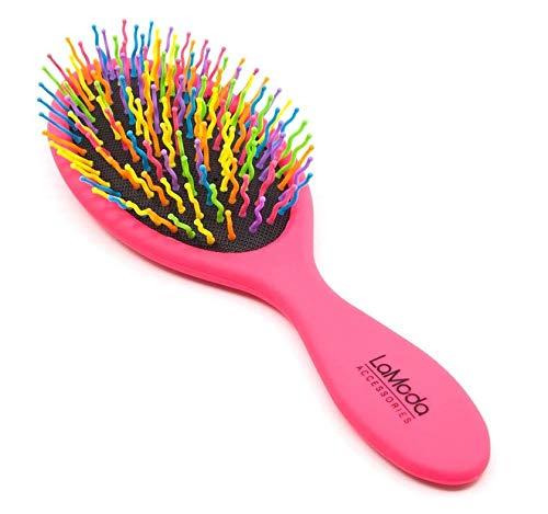 LaModa Haarbürste zum Entwirren Entwirrende Borsten, Regenbogenfarben Griffvarianten in Pink und...