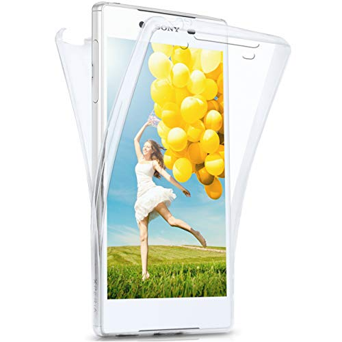 moex Sony Xperia Z5 | Hülle Silikon Transparent 360 Grad Double Side Cover Dünne Schutzhülle Slim Handyhülle für Sony Xperia Z5 Case Transparent Silikonhülle TPU