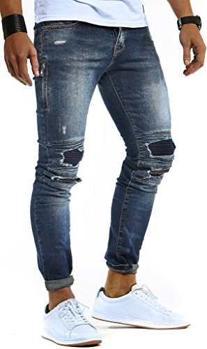LEIF NELSON Herren Hose Jeans Stretch Destroyed Jeanshose Freizeithose Denim Slim Fit Chinos Cargo Jogger Basic Jeans |
