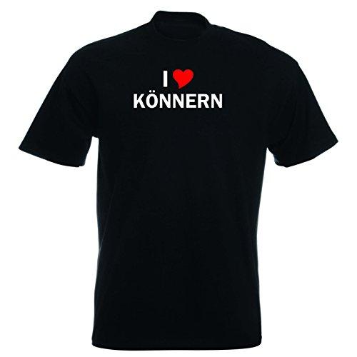 T-Shirt mit Städtenamen - i Love Könnern - Herren - unisex Schwarz