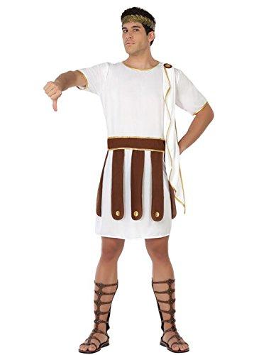Römischer Soldat Kostüm Gladiator Plus Size weiss-braun (Toga Kostüme Size Plus)