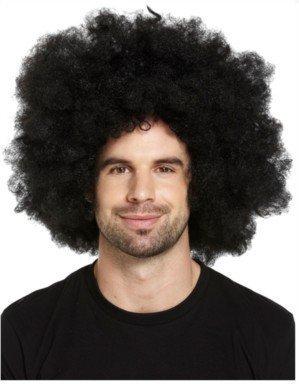 (Fancy Dress Afro Jumbo Black Wig Adult Size by Henbrandt)