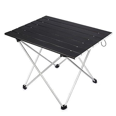 Overmont Table de camping pique-nique pliante portable ultra-légère en Alliage d