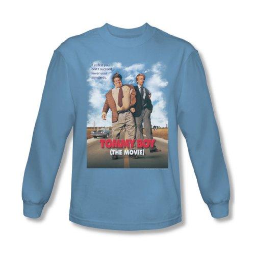 Tommy Boy - Herren Movie Poster Langarm T-Shirt Carolina Blue