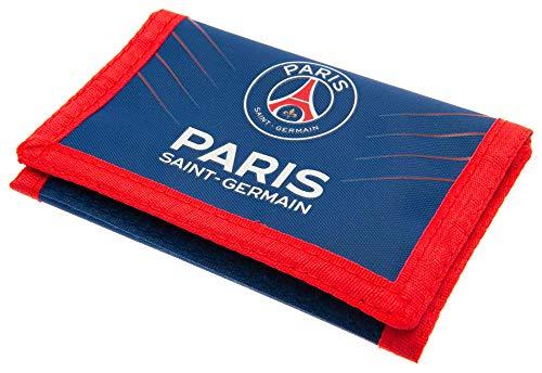 Paris Saint Germain Football Club Official Nylon Wallet Zip Pocket Badge Crest - Le Paris Club