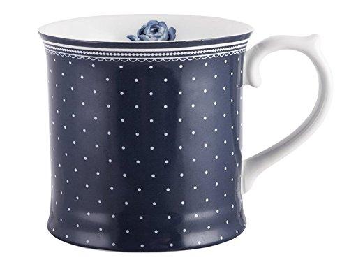 Katie Alice Vintage Indigo Spot Tankard-Taza de porcelana, color azul