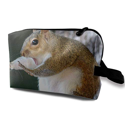 with Wristlet Cosmetic Bags Hand Up Squirrel Travel Portable Makeup Bag Zipper Wallet Hangbag