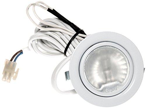 8er Set Möbel Einbaustrahler Einbauleuchte 12V Farbe Weiß inklusive Halogenleuchtmittel dimmbar in 20 Watt AMP Stecker und Kabel