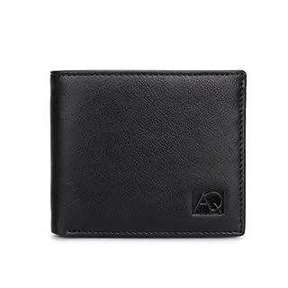 AQ Design, Men's Wallet, RFID Blocking Genuine Leather