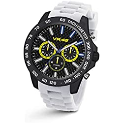 Chrono VR46 Valentino Rossi VR116 by TW Steel - 45 mm - Unisex watch, white silicon strap