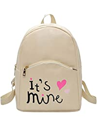 Zibuyu Preppy Chic Women Pu Leather Mini Backpack Letter Printed School Bag