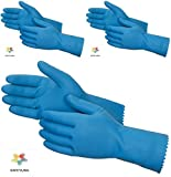 #7: SAFEYURA® House Hold Cleaning Rubber Hand Gloves, Kitchen,Washing Toilet Cleaning,Garden -3 Pair