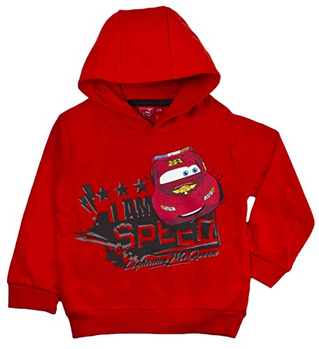 Image of Disney Cars Hoodie Lightning McQueen Red Size 6 Years