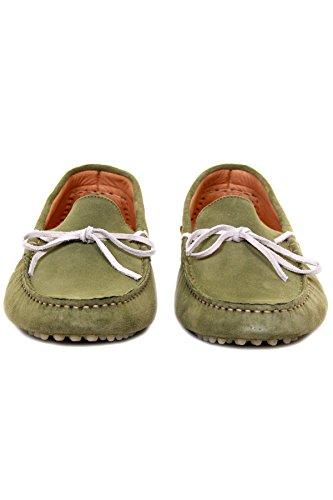 Hudson Ricardo da uomo scamosciata Mocassino Slip On scarpe in verde, verde (Green), 41.5