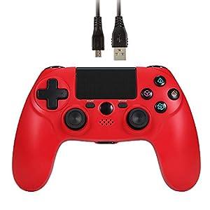 Wetoph Wireless PS4 Controller, GX24 Bluetooth Controller Wireless Verbindung Gamepad Doulshock Motors Joystick-Für PS4…