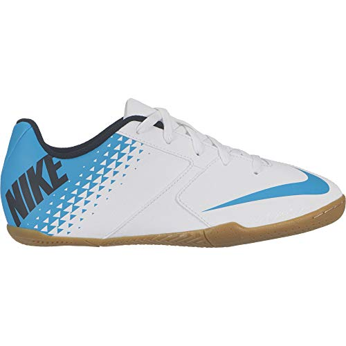 Nike JR Bomba IC, Botas de fútbol para Niños, (White/Blue Lagoon/Black 140),...