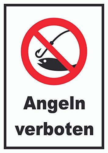 HB-Druck Angeln verboten Schild A4 (210x297mm)