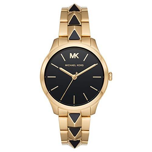 Michael Kors Damen Analog Quarz Uhr mit Edelstahl Armband MK6669