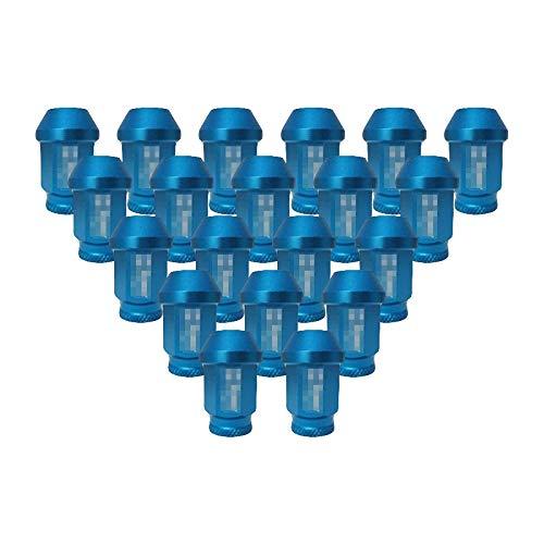 LIDAUTO éCrous de Roues Accessoires de Course Haute dureté Vis Anti-vol Alliage d'aluminium M12 * 1,5 / M12 * 1,25 (TK-NU670),Blue,M12*1.25