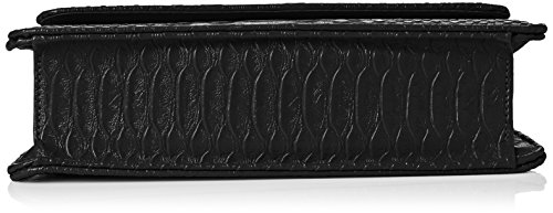SwankySwansPiper Snakeskin Pu Leather Clutch Bags Black - Sacchetto donna Black (Black)