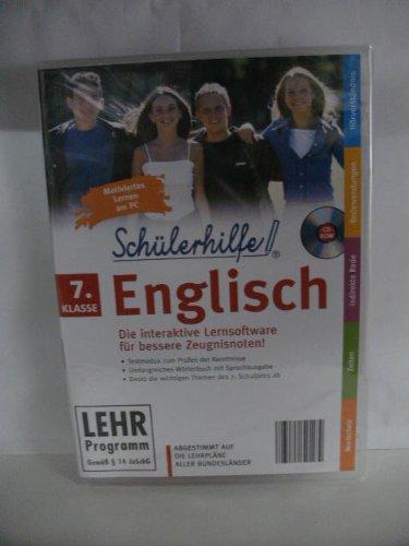 Schülerhilfe! ~ English ~ Klasse 7 ~ Die interaktive Lernsoftware für bessere Zeugnisnoten! ~ Abgestimmt auf die Lehrpläne aller Bundesländer