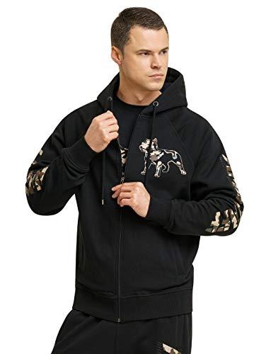 Amstaff Logo 2.0 Männer Zip Hoodie Kapuzen Pullover Jacke Camouflage 3XL