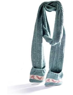 Tasca a mano, colore: verde-Sciarpa a maglia, in cotone organico