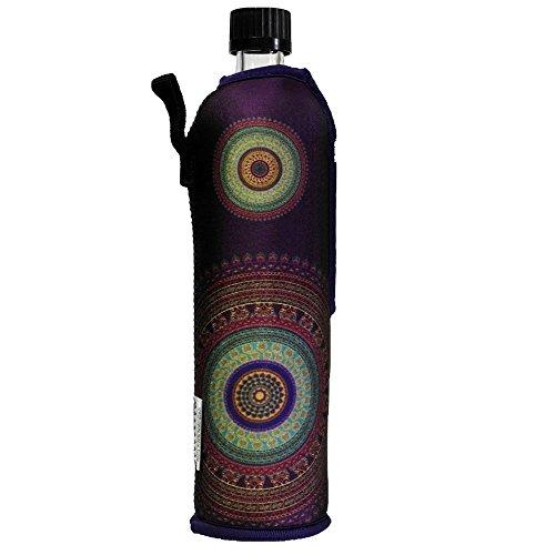 Dora´s Glasflasche mit Neoprenbezug 500 ml (violett)