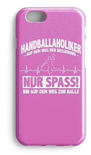 shirt-o-magic Handyhülle Handball: Handballaholiker? Ich? - Case -iPhone 7-Pink
