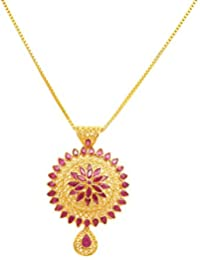 Joyalukkas womens pendants buy joyalukkas womens pendants online joyalukkas ratna collections 22k 916 yellow gold and ruby pendant aloadofball Image collections