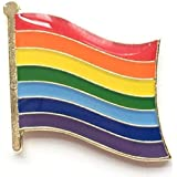 2 x Rainbow Lgbt Gay Pride Ondulati Bandiera Spille