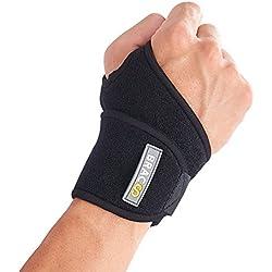 BRACOO Handgelenkbandage | Handgelenkstütze für Sport und Alltag | Wrist Wrap für Damen & Herren | schwarz