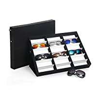 PetHot 18Pcs Perfect Sunglasses Display Storage Case Tray Organizer Glasses Box Stand
