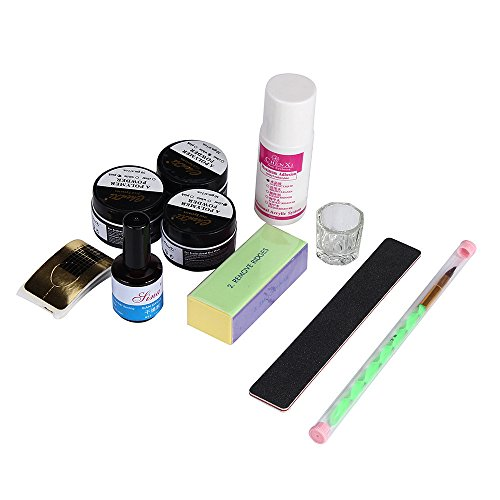 sky-nuevo-10acrylic-nail-art-consejos-powder-liquid-pincel-brillo-clipper-primer-file-set-kit
