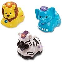 Vtech Baby Toot-Toot Animals 3 Pack - Elephant, Lion & Zebra (Se distribuye desde Reino Unido)