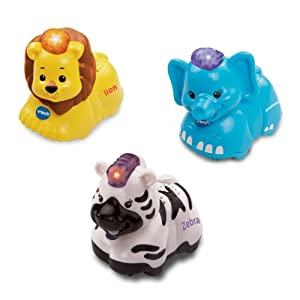 VTech Baby Toot-Toot Animals (Elephant, Zebra and Lion) - Multi-Coloured, Pack of 3