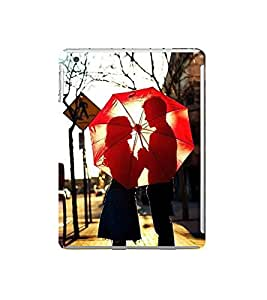 Fuson Designer Back Case Cover for Apple iPad Mini 4 :: Apple iPad Mini 4 Wi-Fi + Cellular (3G/LTE); Apple iPad Mini 4 Wi-Fi (Wi-Fi, W/o GPS) (Lovely Couple Couple In Love Couple With Umbrella Red Umbrella Nice Couple Made For Each Other)