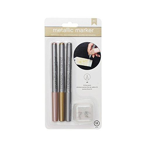 American Crafts Metallic Marker Fine Point, Mehrfarbig -