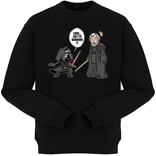 Pull Geek - Parodia de Luke y Kylo Ren de Star Wars - traduction Espagnole - Luke, je suis ton Neveu - Pull Noir - Haute Qualité Noir