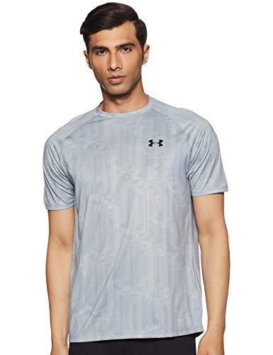 Under Armour Men's Plain Loose Fit T-Shirt (1328189-035_Steel_Large)