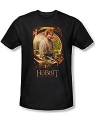 The Hobbit - - Herren Bilbo Poster T-Shirt in schwarz