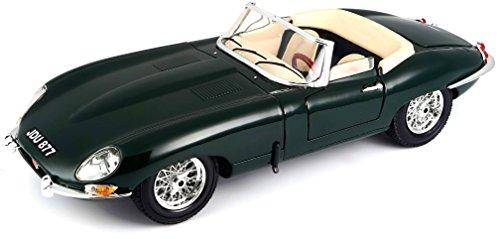 Bburago - Jaguar E-Type Cabriolet, color verde (18-12046)