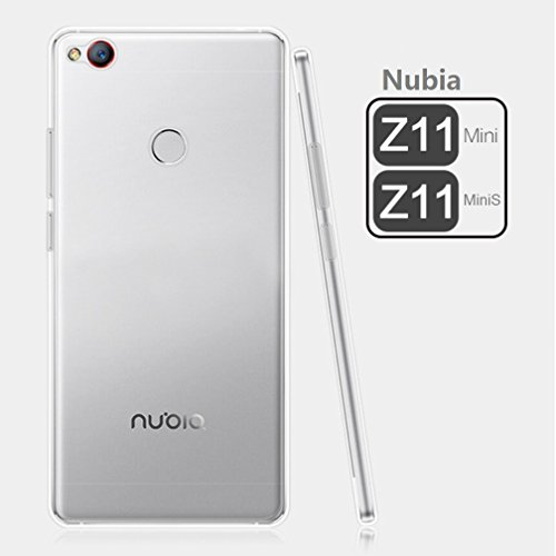 Deesos ZTE Nubia Z11 MiniS Hülle Shock-Absorption Bumper Tasche Schutzhülle Case Cover Crystal Clear Flexible Slim Soft TPU Anti-Scratch Hülle für Nubia Z11 MiniS